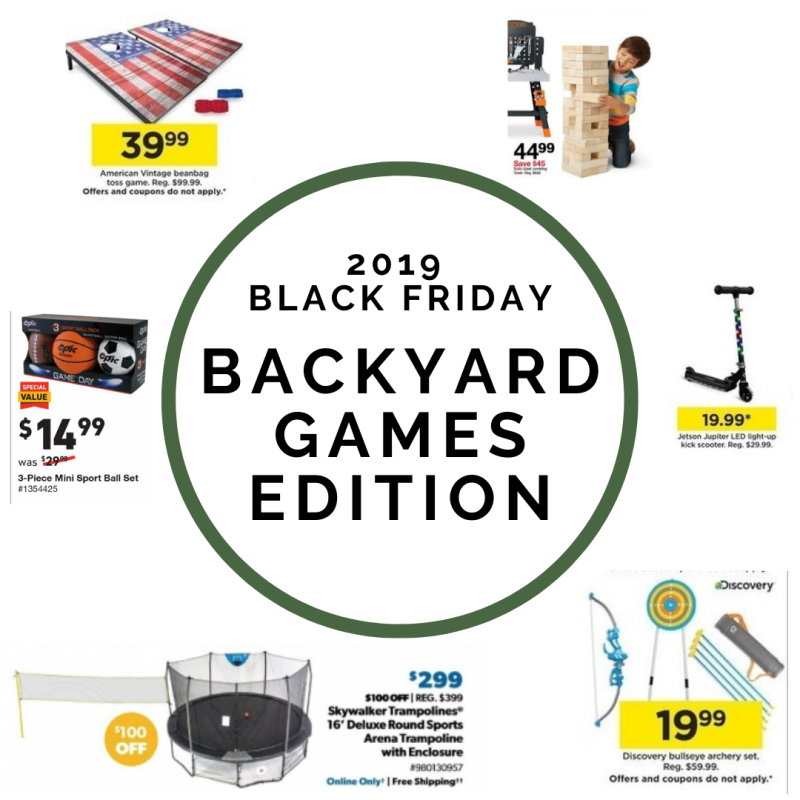 2019 Black Friday Backyard Game Deals