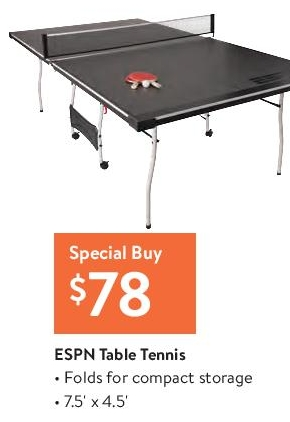 Ping Pong Table @ Walmart  - Black Friday