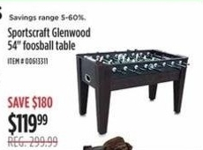 Foosball Table @ Sears  - Black Friday