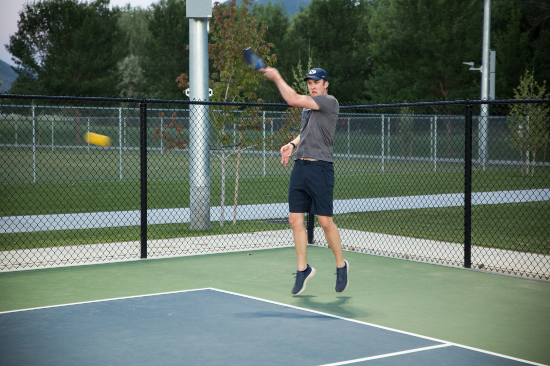 Pickleball in action
